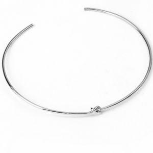 Love knot choker necklace silver minimalist